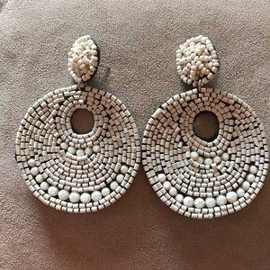Felt beaded earrings